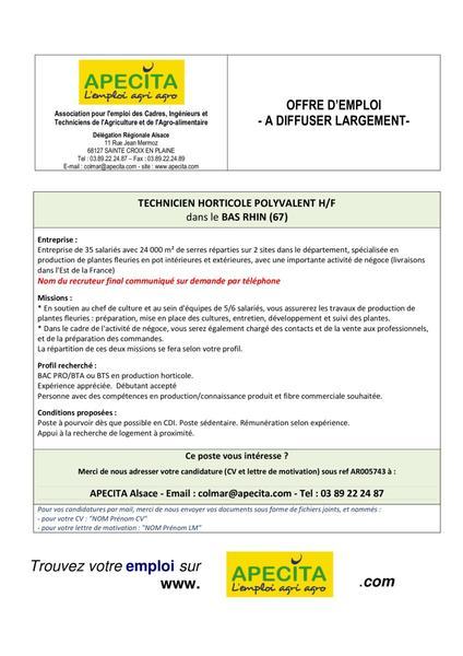 Offres d 39 emploi for Offre emploi entretien espaces verts